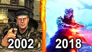 Evolution of Battlefield Games 2002 - 2018