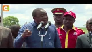Raila hoodwinking Kenyans on corruption, says President Kenyatta