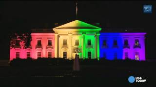 Watch: White House lit up in rainbow pride