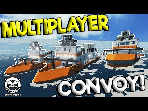 MULTIPLAYER RESCUE CONVOY MISSION! - Stormworks: Build And Rescue Gameplay - Sinking Ship Survival