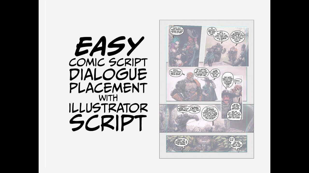Comic Book Lettering - Dialogue Placement Script for Adobe Illustrator