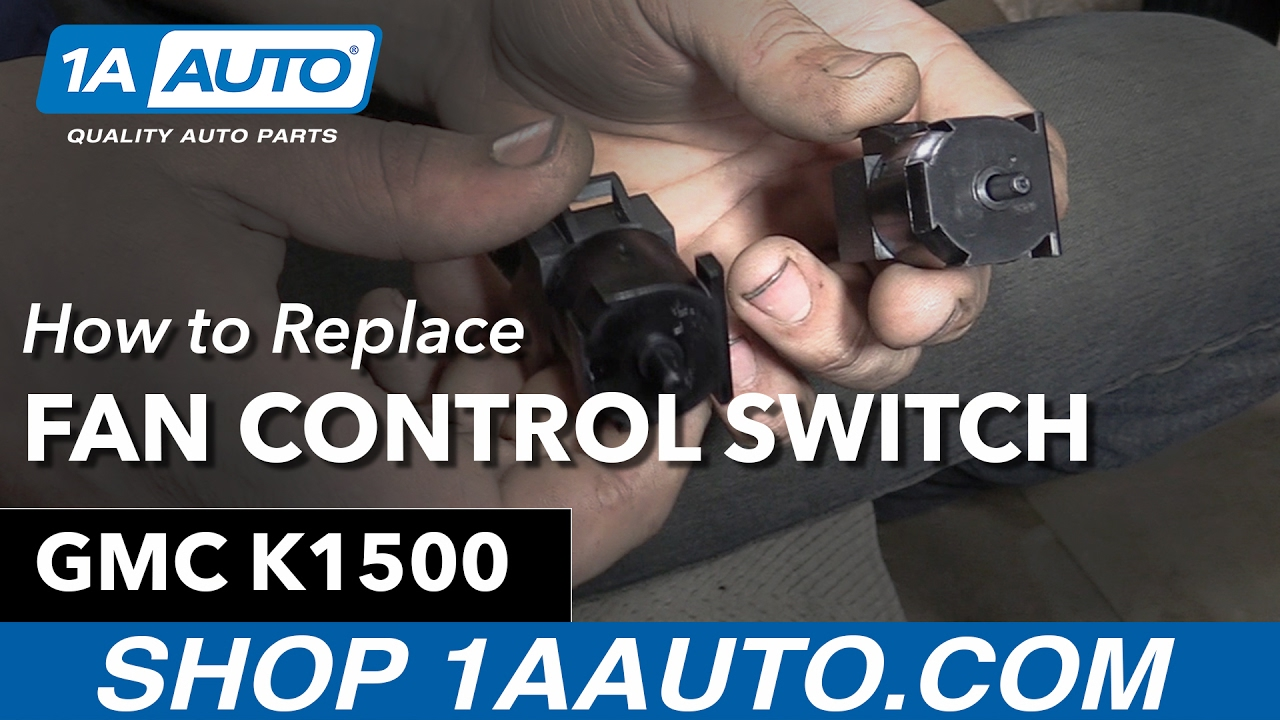 How To Replace Fan Control Switch 95 99 Gmc K1500 Youtube 1997 Chevy 1500 Sending Unit Wiring Diagram