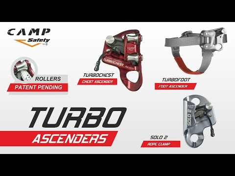 TURBOCHEST, TURBOFOOT, SOLO 2 - Patented rope ascenders