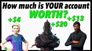 Combien est VOTRE compte Fortnite WORTH? (Réaliste)