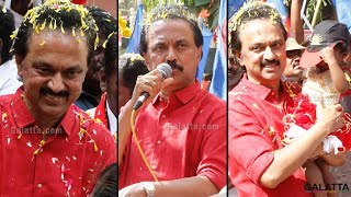 DMK's Marudhu Ganesh & his supporters parade on the streets | RK Nagar election campaign last day