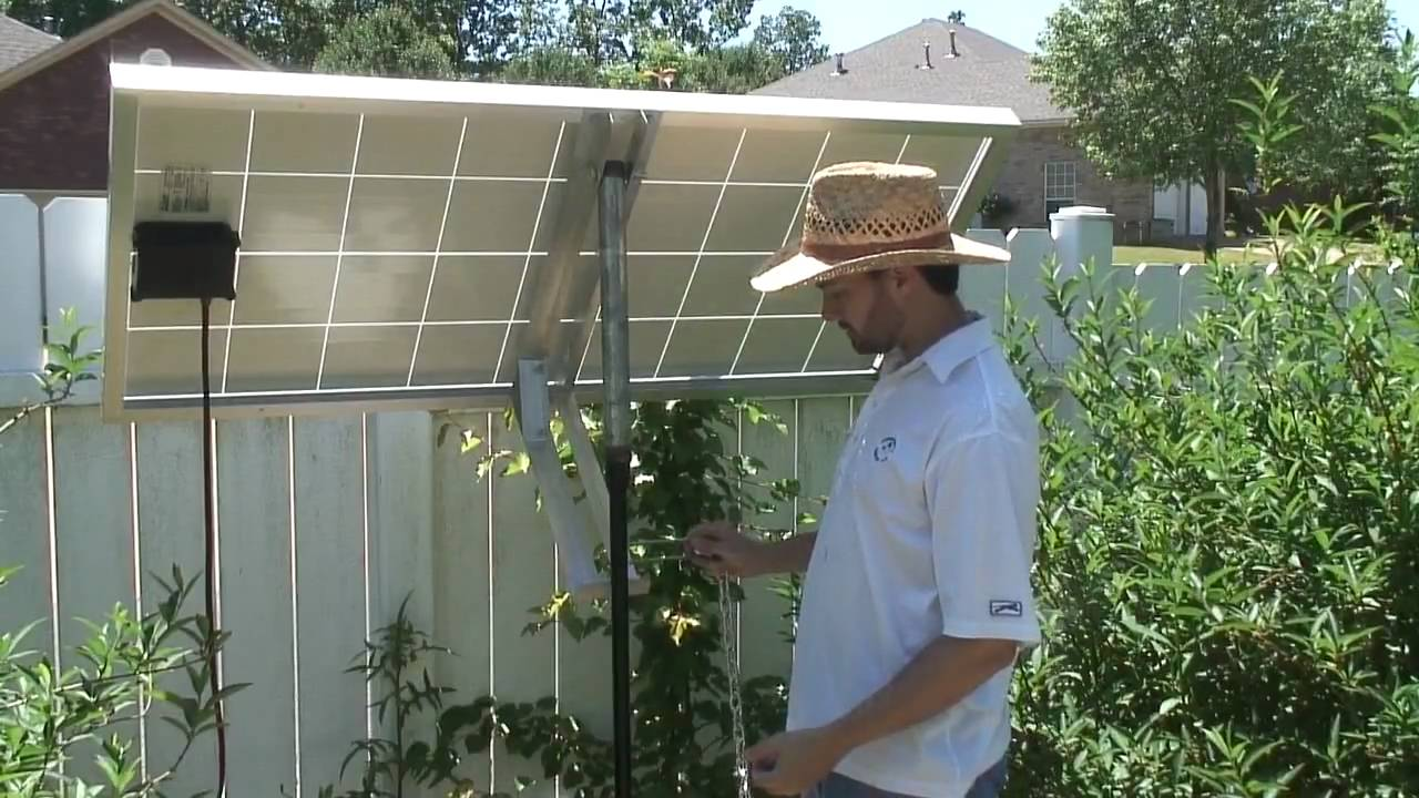 Mounting Solar Panel To Pole 3 Youtube