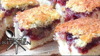Raspberry & Coconut Slice - Video Recipe