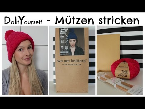 Mütze stricken für Anfänger I We are knitters – Braille Beanie I DIY I AnnaBirdie