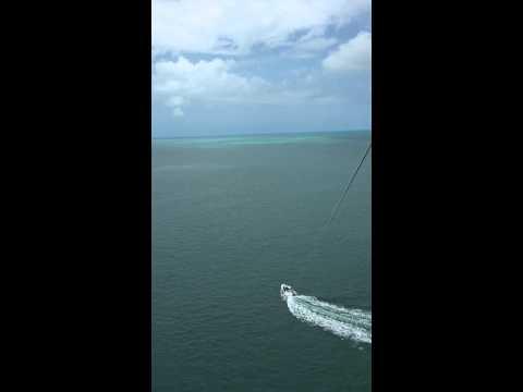 Kimberly and Rob Skinner parasailing Florida Keys Levi Key West Financial Freedom Family