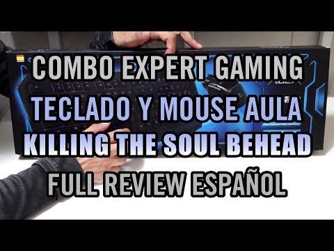Combo Expert Gaming Teclado/Mouse AULA KILLING THE SOUL BEHEAD Review Full Español