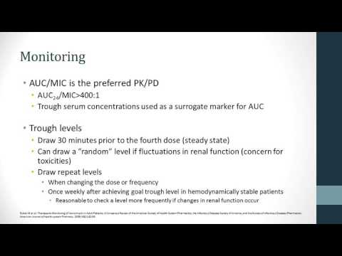 Clinical Application of Vancomycin