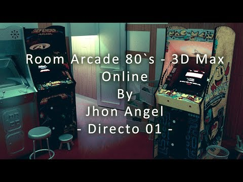 Directo Nº 1 - Room Arcade 80`s - 3D Max / CORONA RENDER Online - By Jhon Angel