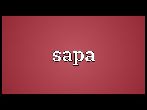 Sapa Meaning