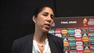 UEFA Women EURO 2017 Final Tournament Draw Interview after the draw with Steffie Jones