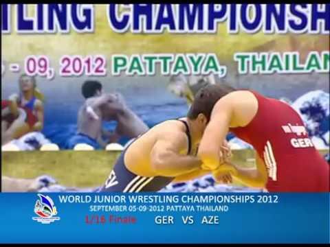 WORLD JUNIOR WRESTLING CHAMPIONSHIPS 2012 GER VS AZE