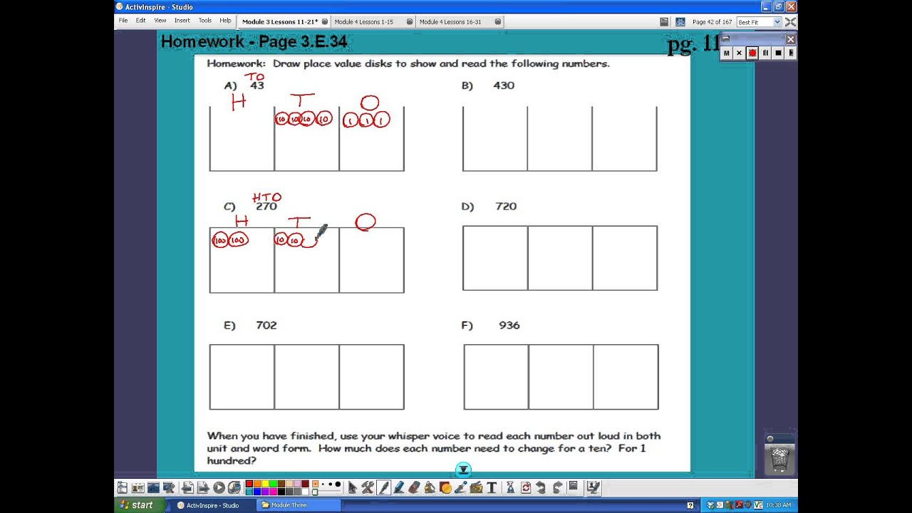 image regarding Place Value Disks Printable named Modeling with Quantity Disks (expert services, worksheets, lesson