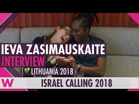 Ieva Zasimauskaitė (Lithuania 2018) Interview   Israel Calling 2018