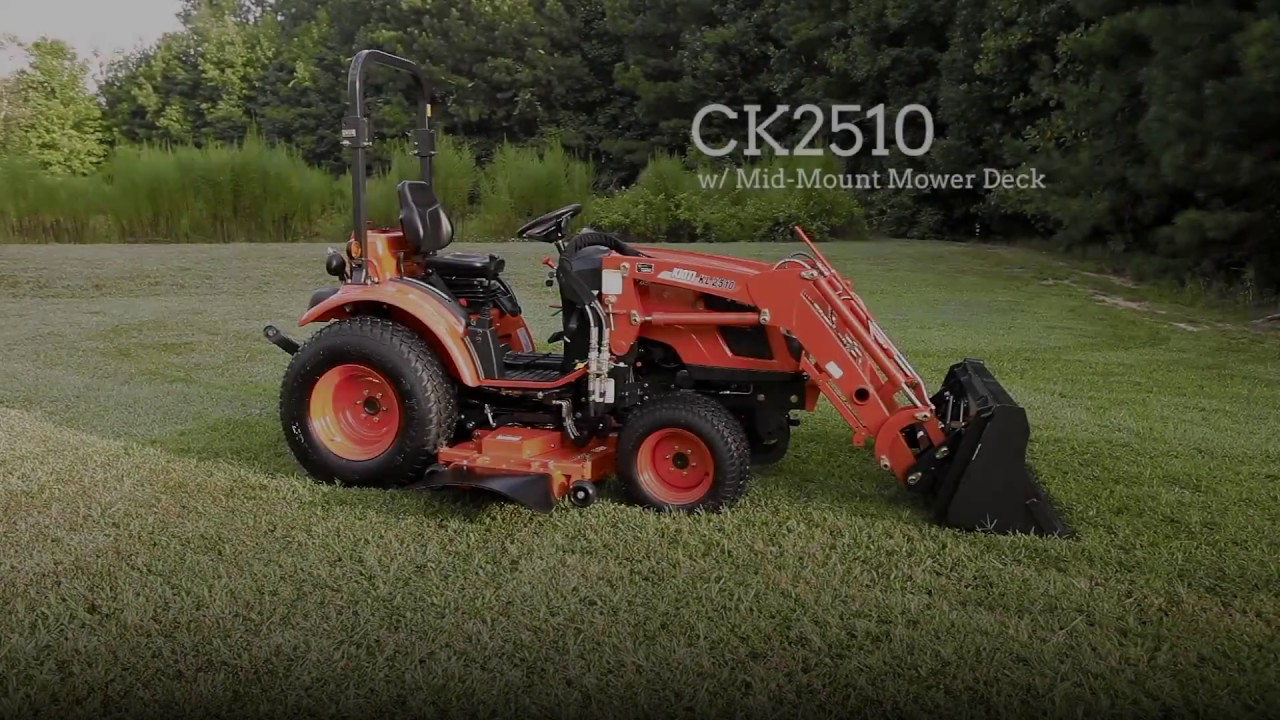 KIOTI CK2510 w/Drive Over Mower Deck - Quick Start Video