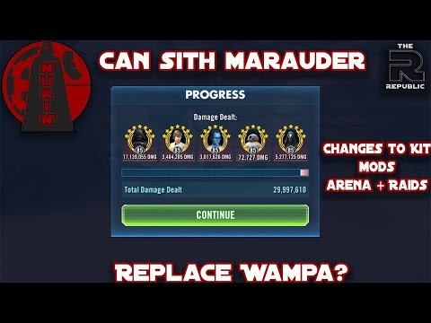 Can Sith Marauder Replace Wampa or Commander Luke in the Raid?   Kit changes + Mods   SWGOH