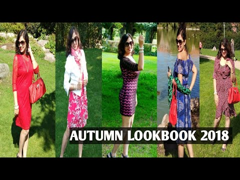 MY DRESS COLLECTION (2018) || AUTUMN LOOKBOOK (2018) || MY FALL OUTFIT IDEAS || #indianvlogger