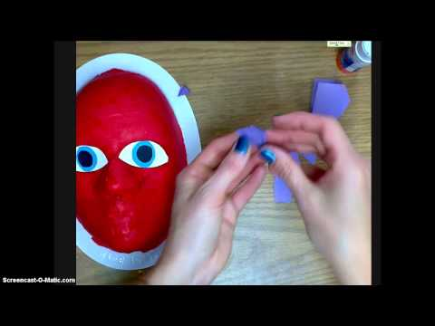 Paper Mache Mask (Designing w/Construction Paper)