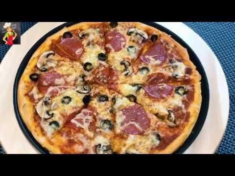 صورة  طريقة عمل البيتزا طريقة عمل البيتزا وتحضير صلصة وعجينة مميزة وناجحة مية بالمية طريقة عمل البيتزا من يوتيوب