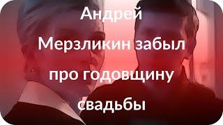 Андрей Мерзликин забыл про годовщину свадьбы