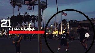 ABD'nin En ÜNLÜ Sahilinde Sokak BASKETBOL'u | 21 Challenge (2v1)