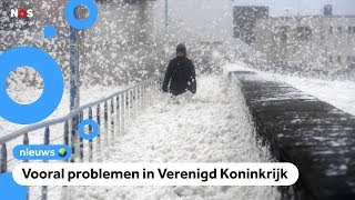 Storm Dennis: code geel en een warmterecord