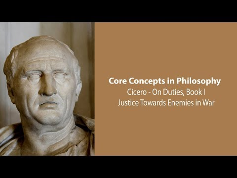 Cicero on Justice Towards Enemies In War (On Duties) - Philosophy Core Concepts