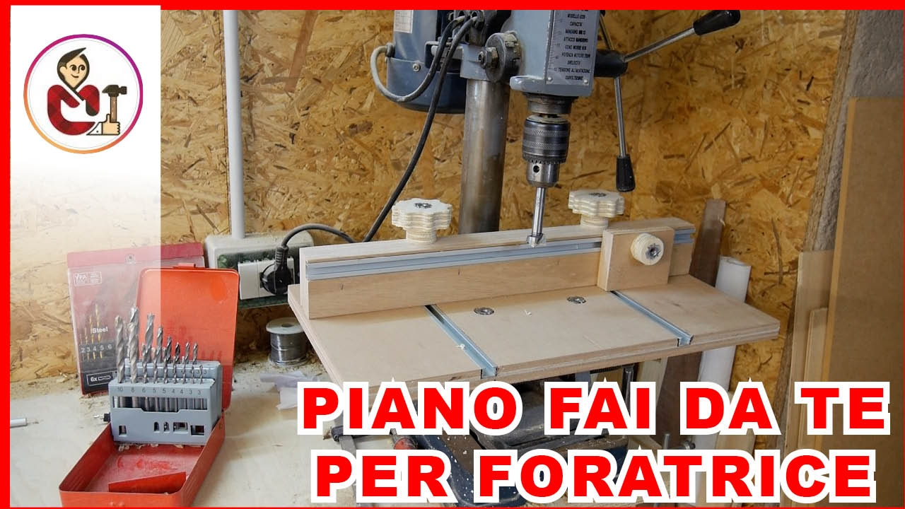 Supporto fai da te per il trapano a colonna youtube for Panchine fai da te