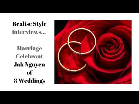 Realise Style interviews... Marriage Celebrant Jak Nguyen of 8 Weddings