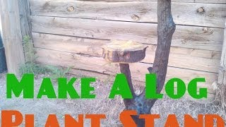 How To Make A Log Plant Stand- Live! With Mitchell Dillman