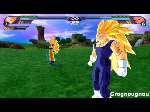 Majin Gogeta SSJ3 VS Kid Buu (Dragon Ball Z Budokai Tenkaichi 3 Fusion mod) streaming vf