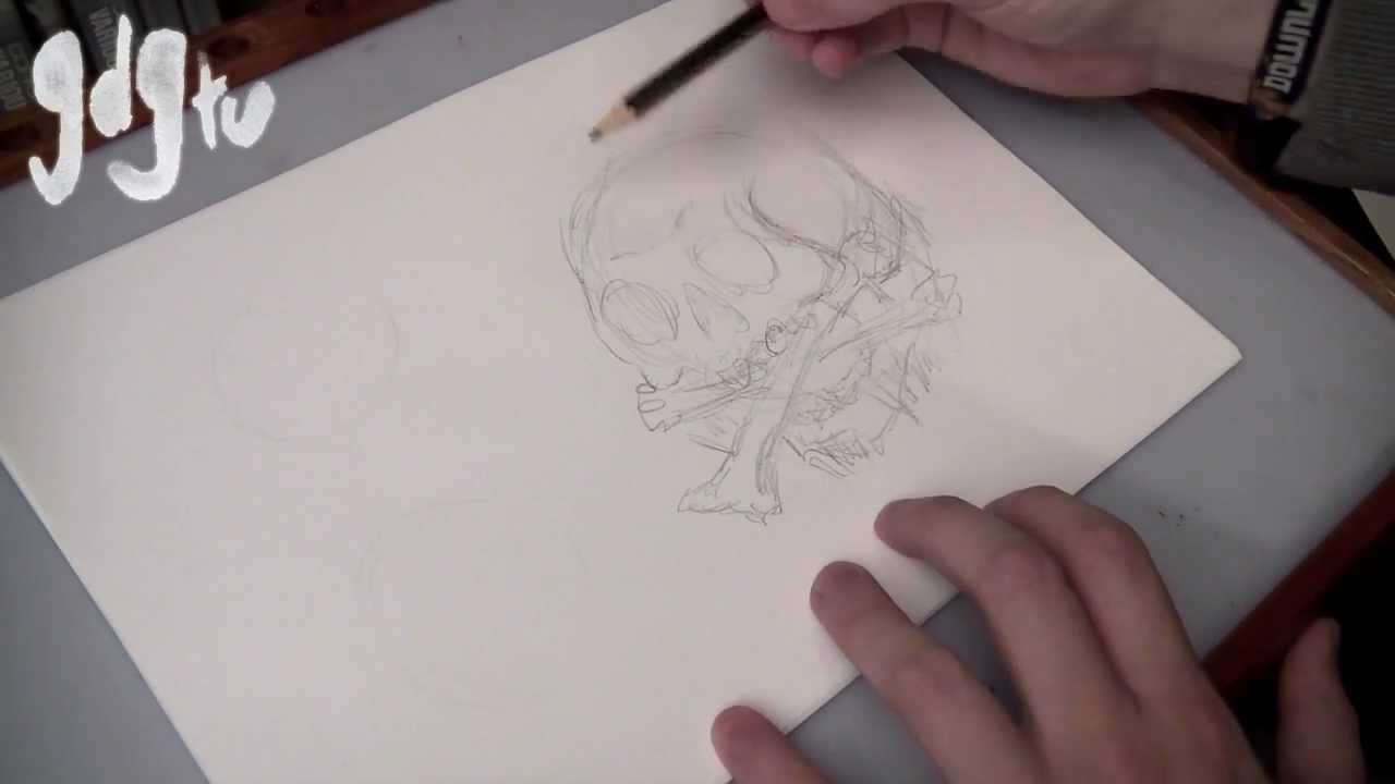 How To Draw Skulls And Snakes
