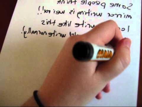 Mirror Writing - YouTube