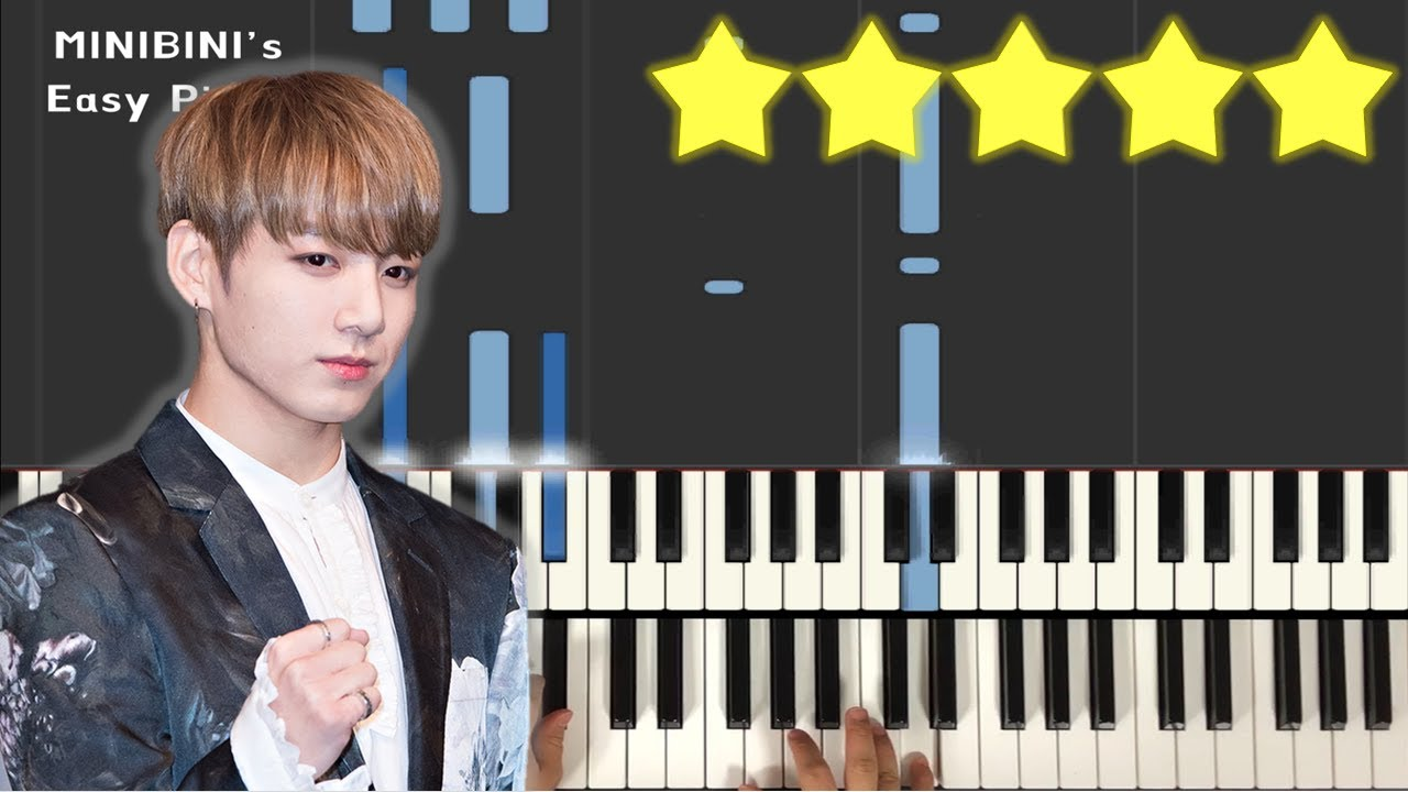 BTS JUNGKOOK (정국) - EUPHORIA 《MINIBINI EASY PIANO ♪》 ★★★★★
