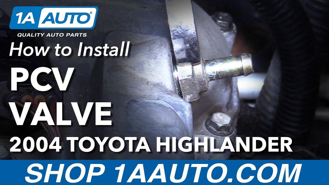 how to install replace pcv valve positive crankcase ventilation 2004 toyota highlander [ 1280 x 720 Pixel ]