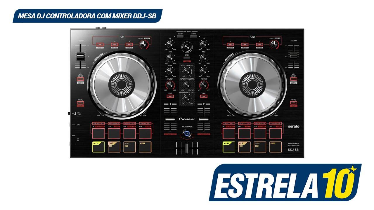 Mesa controladora com mixer 2 canais ddj sb pioneer dj youtube - Mesa dj pioneer ...