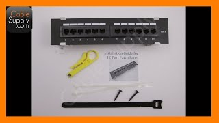 How to install a 12 Port Cat5e/Cat6 wall-mount Patch Panel