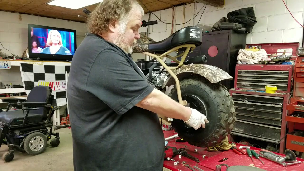 Were doing a step by step rear sprocket change on our Coleman CT200U-EX