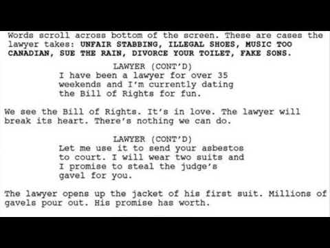 What would a #lawyer #commercial sound like if a bot wrote it?