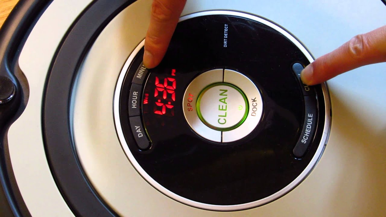 Irobot Roomba How To Set Clock Time Youtube