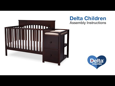 Delta Children Layla 4-in-1 Crib 'N' Changer Assembly Video