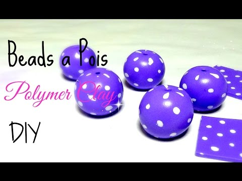 Pois beads polymer clay tutorial ENGLISH