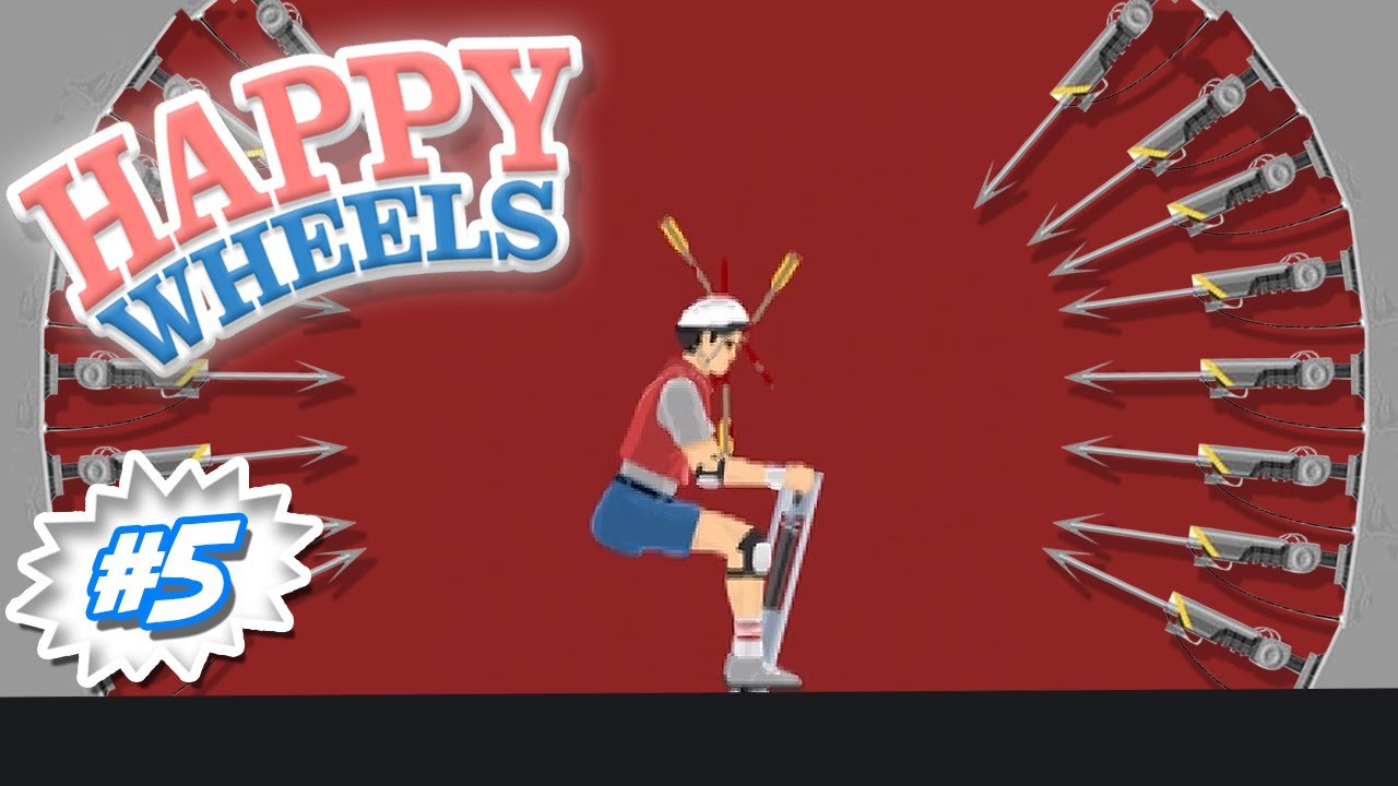 beating the impossible level happy wheels youtube