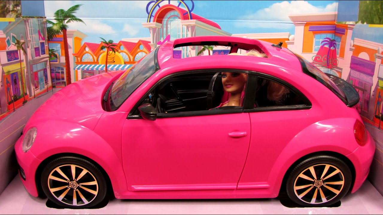 Barbie Volkswagen The Beetle - Mattel - BJP37 - YouTube