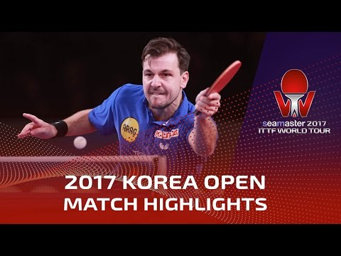 2017 Korea Open Highlights: Timo Boll vs Patrick Franziska (Final)