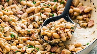 White Beans with Bacon and Herbs