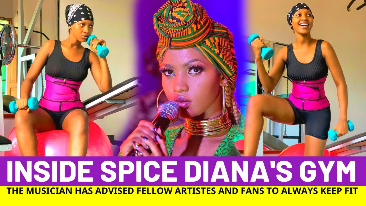 Inside Spice Dianas Gym At Her Expensive Mansion